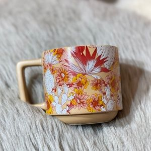 Starbucks Floral Cactus Desert Ceramic Mug